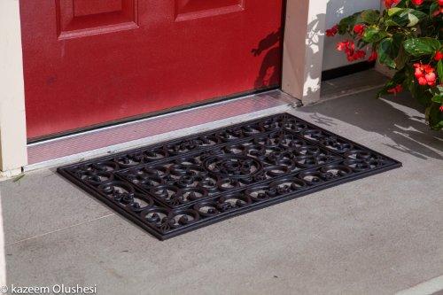 Kempf Rubber Scroll Doormat Rectangular (Outdoor Mats Metal Door)