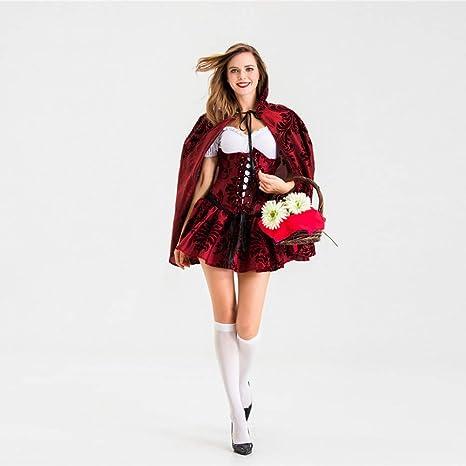 GBYAY Disfraz de Caperucita roja para Mujer Adulta Vestido de ...