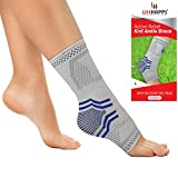 Ankle Brace, Lifehapps Active Relief Compression Sleeve w/Gel Pads for Men, Women, Kids, Sock AIDS in Recovery and Support of Sprained Ankle, Plantar Fasciitis, Heel Spurs, Achilles Tendon, Joint Pai