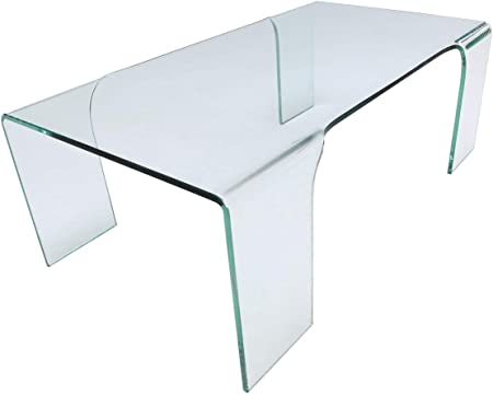 Glass Tables Online Glass Coffee Table On 4 Legs Amazon Co Uk