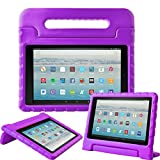 Fire HD 10 Tablet Case,Surom All-New Fire HD 10 2017 Case,Light Weight Shock Proof Convertible Handle Kid-Proof Cover Kids Case for All-New Fire HD 10 Tablet (7th Generation, 2017 Release),Purpl