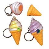 Ice Cream Lip Gloss Keychains (Set of 12)