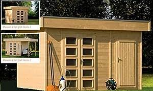 Casa de madera con techo plano 250 x 250 cm, 9,5 m², VENLO