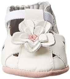 Robeez Pretty Pansy Soft Sole Sandal (Infant),White,6-12 Months M US Infant