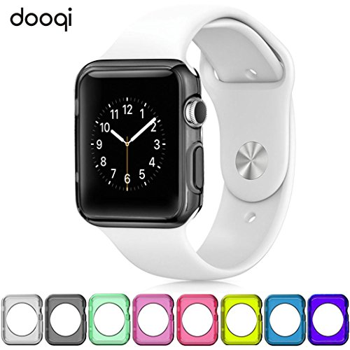 Silicone TPU Bumper Protective Cover Case For Apple Watch Series 3 2 42mm (YELLOW) by dooqi (Image #1)