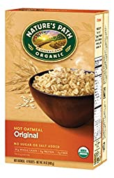 Nature\'s Path Organic Instant Hot Oatmeal, Original, 14 Ounce (Pack of 6)