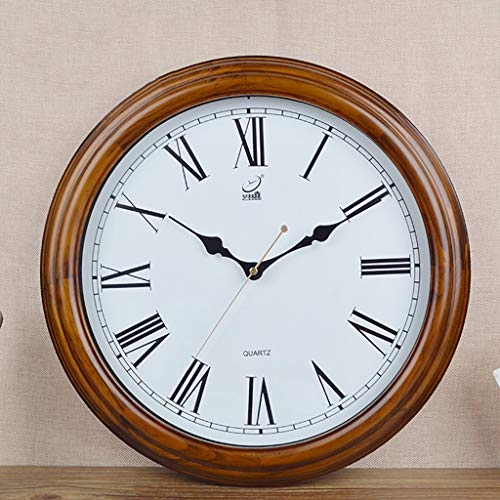 HCGZ Vintage Wooden Wall Clock, 16 inch Living Room Large Ro