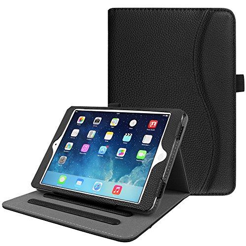 Fintie iPad Mini/Mini 2 / Mini 3 Case [Corner Protection] - [Multi-Angle Viewing] Folio Smart Stand Protective Cover with Pocket, Auto Sleep/Wake for Apple iPad Mini 1 / Mini 2 / Mini 3, Black