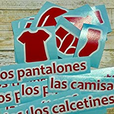 Spanish or French Dresser Labels for Boys || Chest of Drawers Clothing Labels.
