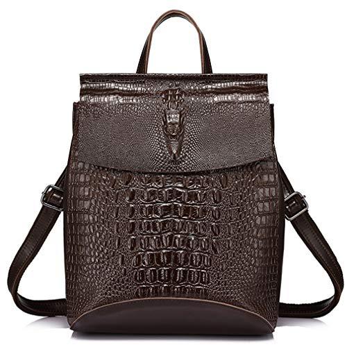 Prints Black Female Shoulder Women Bag Backpack Crocodile Fashion Split Leather Multifunctional X4f60xnqwn