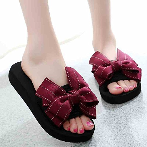 Sandals ZHIRONG Flat Bottom Non-slip Seaside Beach Shoes Outer Wear Thick Bottom Female Summer (Color : C, Size : EU35/UK3/CN34) A
