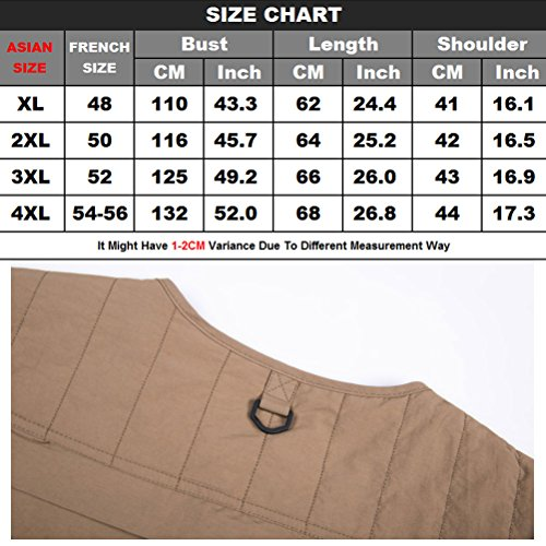 pesca Waistcoat Father Travels Casual Fishing Work Chaleco Mens Khaki Zhuhaitf de Vest Pockets Fashion Mesh Gift Multiple 1qBUPwR