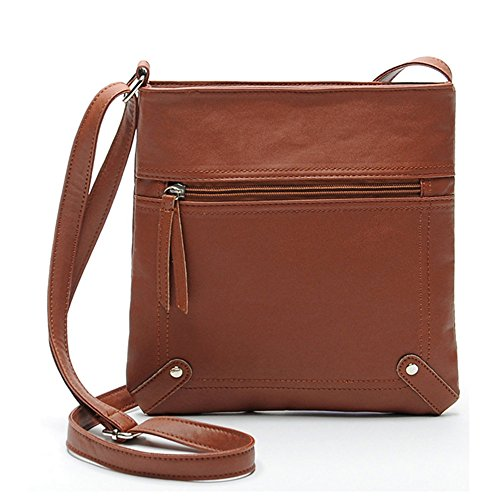 Bag Duketea Girls Women Crossover Faux Purse Teen Crossbody Leather for Tan for Medium 8ZFqp8