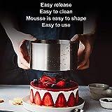 DECARETA 4 PCS Cake Rings Stainless Steel Cake