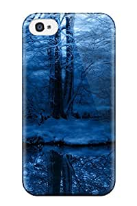 Best 6523227K99237523 Iphone High Quality Tpu Case/ Creepy Snowy Forest Case Cover For Iphone 4/4s
