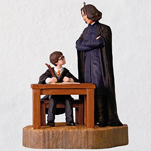 Hallmark Keepsake Christmas Ornament 2018 Year Dated, Harry Potter and the Sorcerer's Stone, Severus Snape First Impressions With Sound by Hallmark
