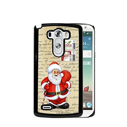 Christmas Theme Santa Claus Postcard Xmas Stamps (2015 MODEL) LG G4 Hard Plastic Phone ()