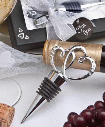 Glistening heart design bottle stopper, 15 - Glistening Heart