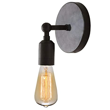 Lightess Black Wall Sconce Lighting Industrial Edison Retro Wall Mount Lamp  Home Kitchen Cafe