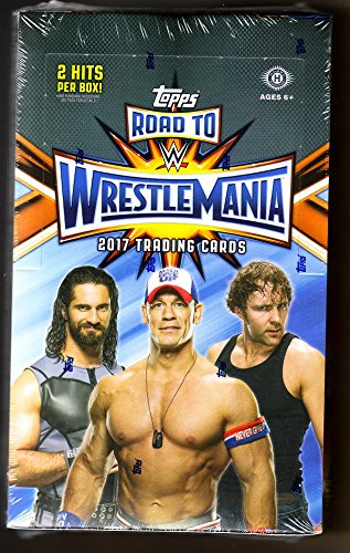 1 BOX - 2017 TOPPS WWE ROAD WRESTLEMANIA-UNOPENED SEALED-24 PACKS-HOBBY-2 HITS (Wwe Inc)