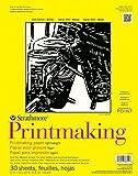 "Strathmore STR-333-8 40 Sheet Lightweight Printmaking Pad, 8 by 10"""