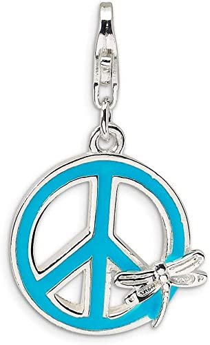 Amore La Vita Sterling Silver Enameled with Camera Click-On Lobster Clasp Charm Pendant