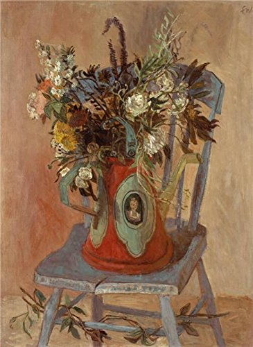 The Polyster Canvas Of Oil Painting 'Franklin Chenault Watkins,Blue Chair,about 1941' ,size: (Romantic Creation Semi Mount)