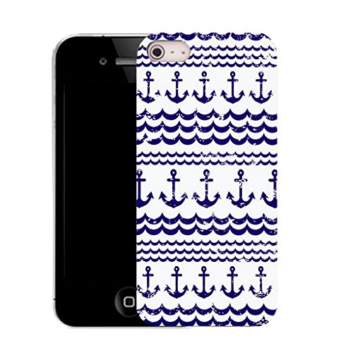 Mobile Case Mate IPhone 5 clip on Silicone Coque couverture case cover Pare-chocs + STYLET - traditional anchor pattern (SILICON)