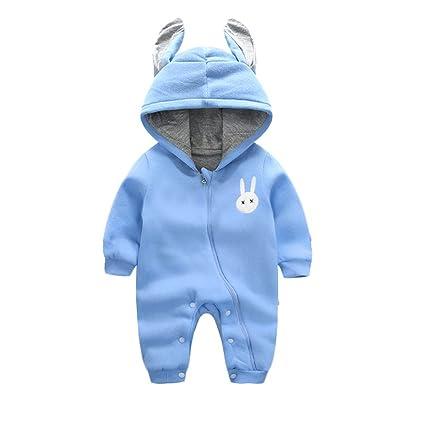 d50f95545823a エルフ ベビー(Fairy Baby) 赤ちゃん着ぐるみ カバーオール ロンパース フード付き うさぎ耳 長袖防寒