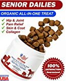 Senior Dailies Collagen for Dogs-Soft Chews, Advanced Hip Joint Supplement with Glucosamine, Chondroitin, MSM, Turmeric & Collagen, Premium Joint Relief Dogs, Made in USA Review