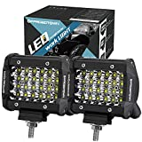 LED Pods, OFFROADTOWN 4'' 144W QUAD Row LED Light Bar OSRAM Work Light Spot Beam Off road Driving Fog lights Waterproof LED Cubes for Truck Jeep Boat