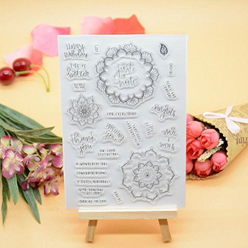 me 1pc Lace Frame Design Rubber Clear Stamp for Card Making Decoration and Scrapbooking (Frame Rubber Stamp)