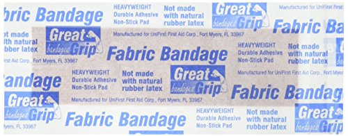 Medique Products 61450 Extra Heavy Weight Latex Free Flexible Woven Strip Bandages, 7/8-Inch by 3-Inch, 50 Per Box