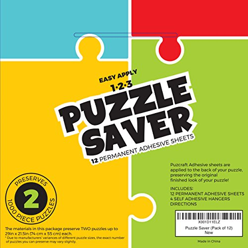 Puzcraft Puzzle Saver Adhesive Sheets (12-Pack) Easiest