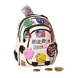 Mochila–Hucha con diseño de vacaciones–Hucha de mochila viaje saco