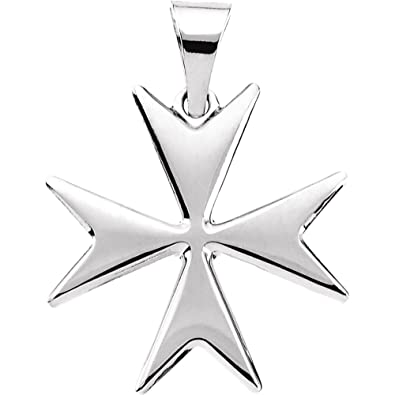 sterling pendant products silver bikerringshop maltese cross biker