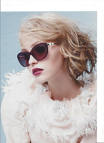 **PRINT AD** With Lilly Rose Depp For 2015 Chanel Sunglasses **PRINT AD** (Sunglasses Chanel)