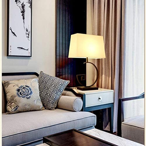 WZHZJ Mid Century Modern Diamond Cut Concrete Decor Bedside Table Desk Lamp With Light Bulb, Nickel Finish