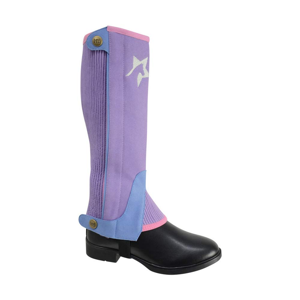 HyLAND Childrens/Kids Zeddy Three Tone Amara Half Chaps (M) (Floral Lavender/Petrol Blue/Pink Powder Blush)