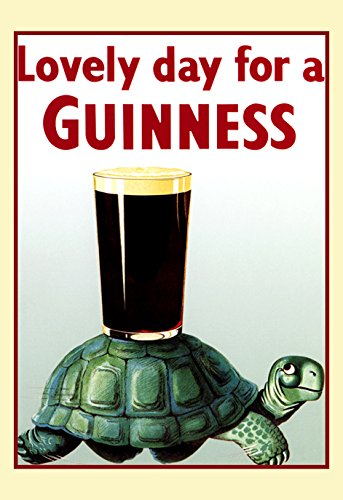- Guinness Poster, Turtle, Lovely Day for a Guinness, Stout, Beer