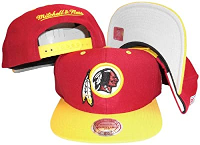 Washington Redskins Maroon/Gold Two Tone Snapback Adjustable Plastic Snap Back Hat / Cap