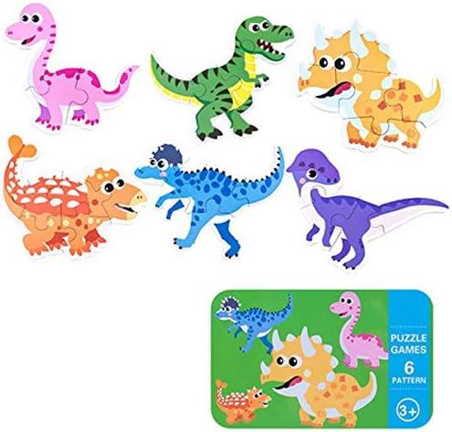 Juguetes educativos Caja De Hierro Figura Plana Grande Dinosaurio ...