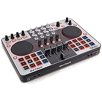 DJTECH 4MIX 4-Channel USB Controller with Soundcard