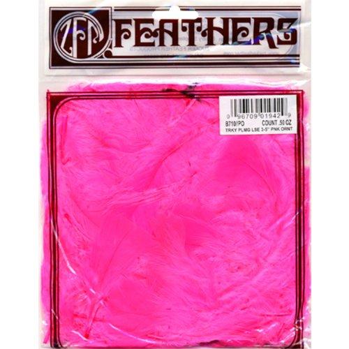 - ZUCKER B710-PO Turkey Plumage Feather, 0.5-Ounce, Pink Orient