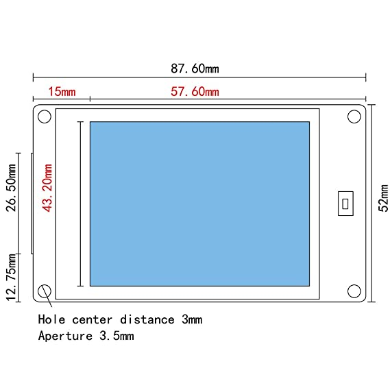 Homyl 1 Pieza Pantalla de 2,8 Pulgadas Cable Línea de Guía de 3D ...