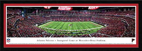 Atlanta Falcons, 1st Game at MB Stadium - 42x15.5-inch Single Mat, Select Framed Picture by Blakeway Panoramas ()