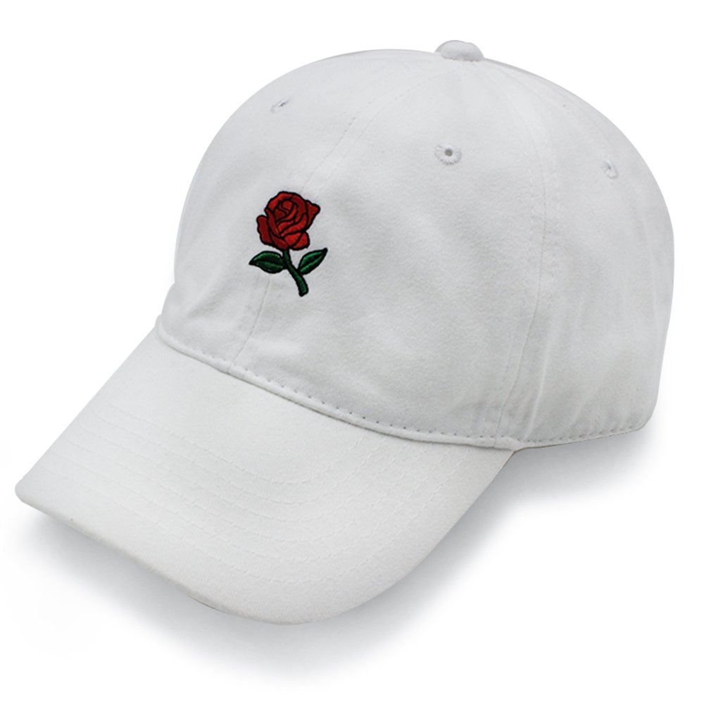 Hatter USA Embroidered Rose Unstructured Unisex Dad Hat