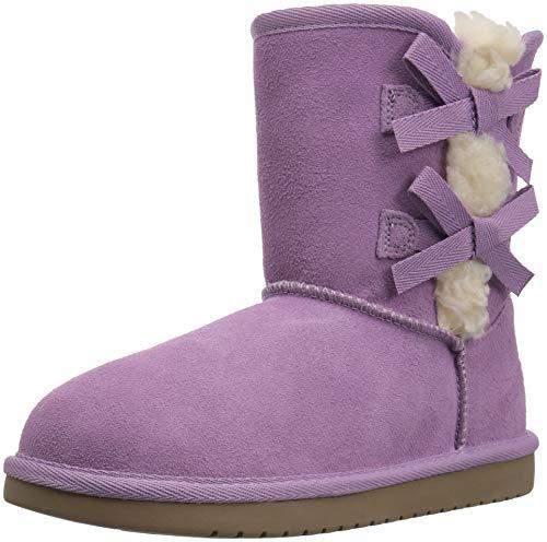 Koolaburra by UGG Unisex K Victoria Short Fashion Boot, Lavender Mist, 04 Medium US Big Kid -