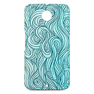 Loud Universe Motorola Nexus 6 3D Wrap Around Waves Print Cover - Multi Color