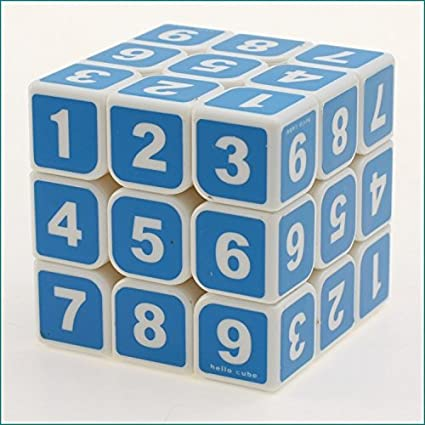 Jden Sudoku Cube-Brain Teaser-Printed Stickerless Cube with Free Sticker Coloured Number Cube